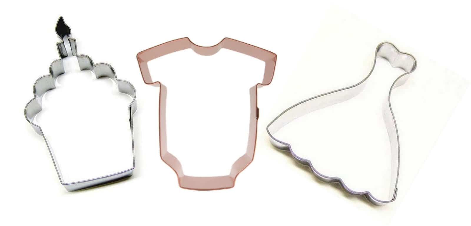 Celebrations birthday shapes baby and wedding shapes for example