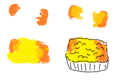 dinner cookies on a stick - how to draw mac n' cheese