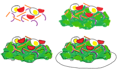 dinner cookies on a stick - how to draw salad