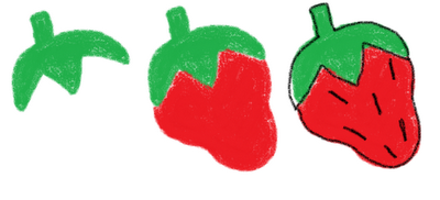 dinner cookies on a stick - how to draw a strawberry
