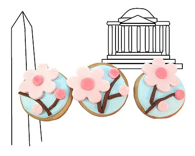 cherry blossom cookies - the decorated cookie