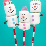snowman marshmallow family Christmas cards