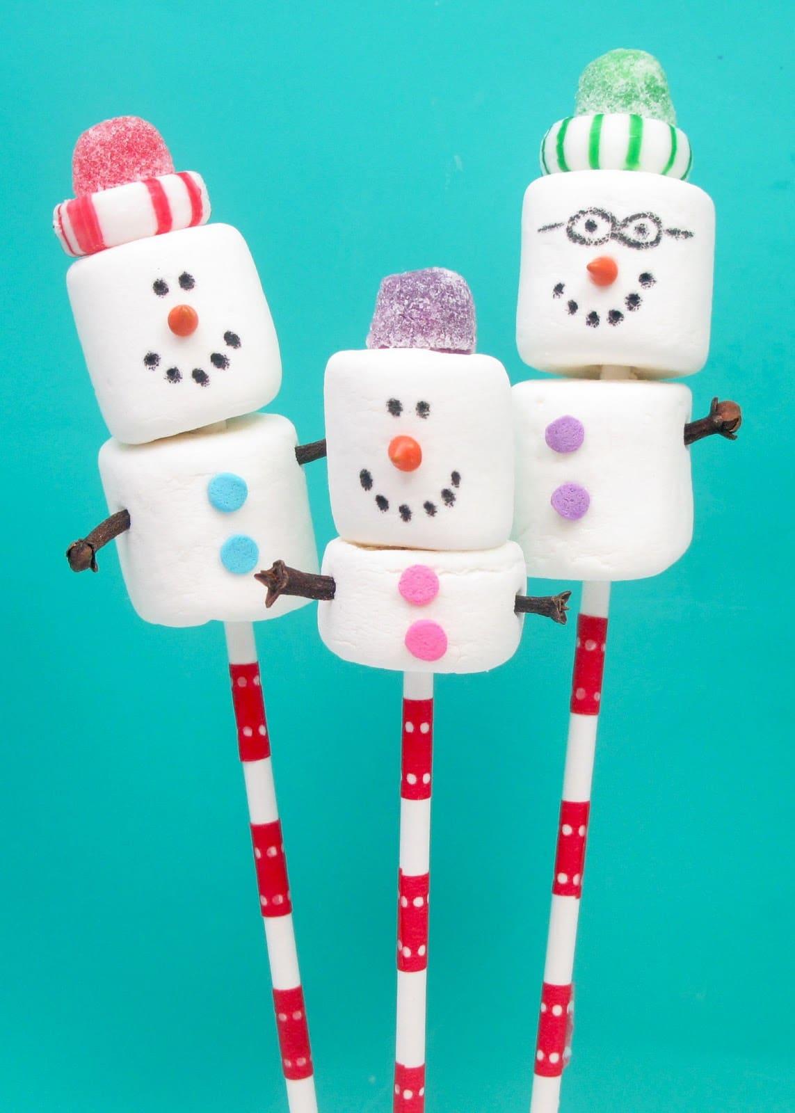 snowman marshmallow family christmas cards - Christmas Marshmallows
