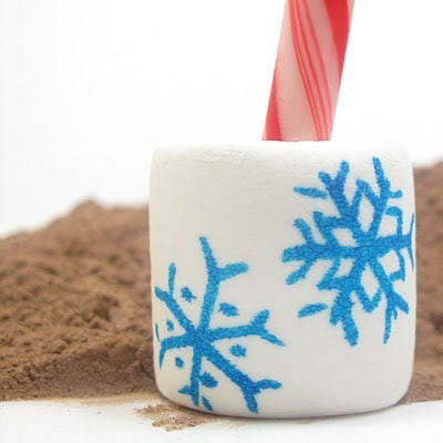 hot cocoa marshmallow stirrers