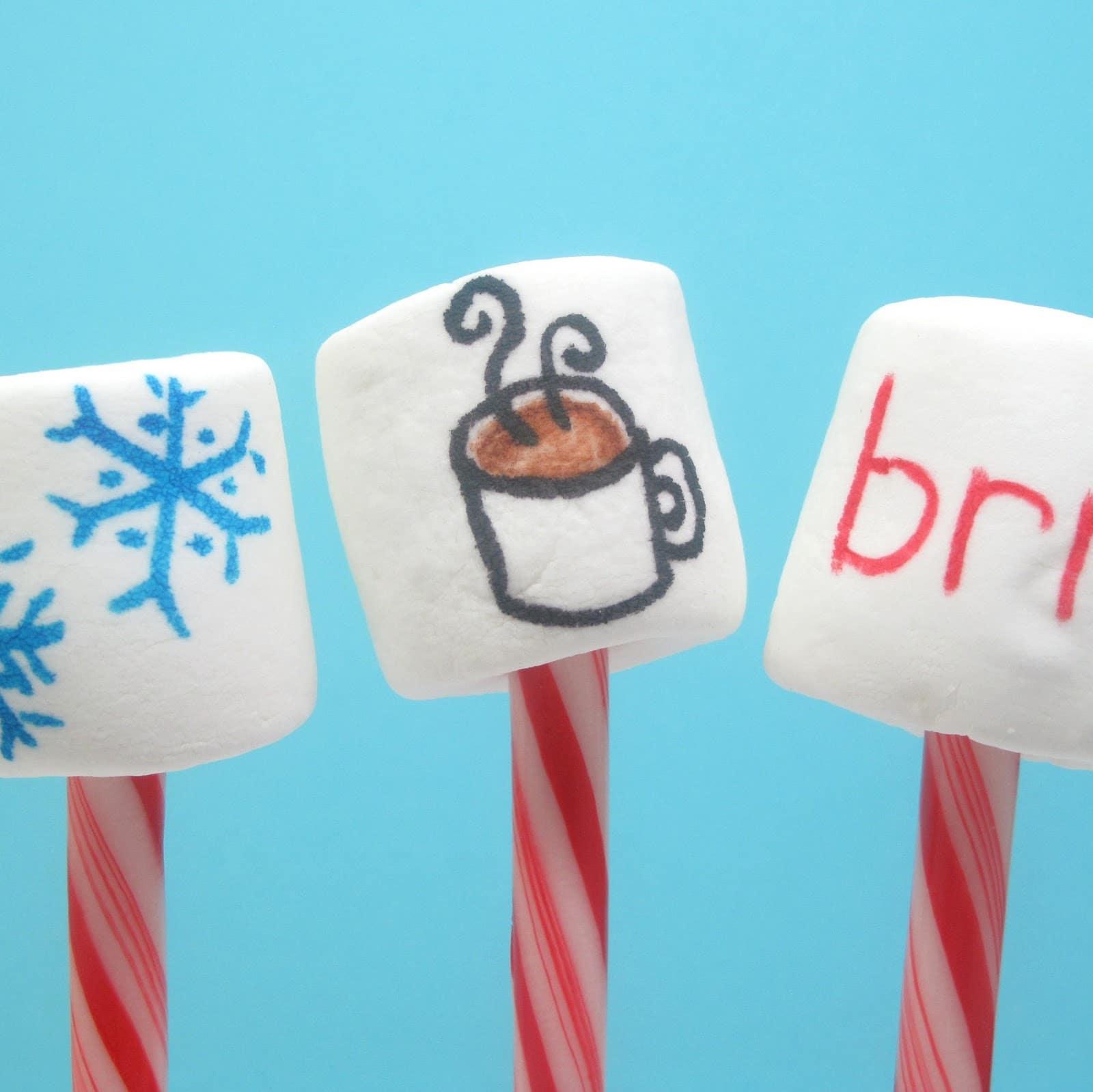 marshmallow cocoa stirrers