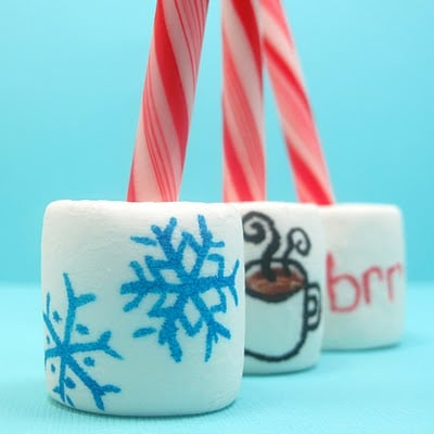 hot cocoa marshmallow stirrers - the decorated cookie