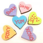 conversation heart chocolates