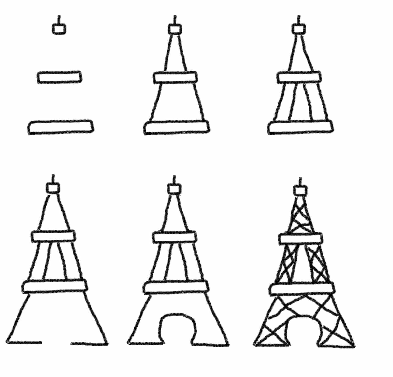 Line Drawing Eiffel Tower : Bastille day cookies the eiffel tower and fireworks on