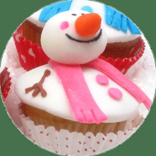 snowman cupcake Christmas card