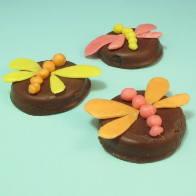 Starburst dragonflies cookie or cupcake toppers