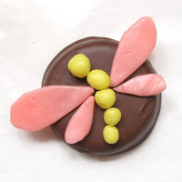 Starburst dragonfly cookie or cupcake toppers