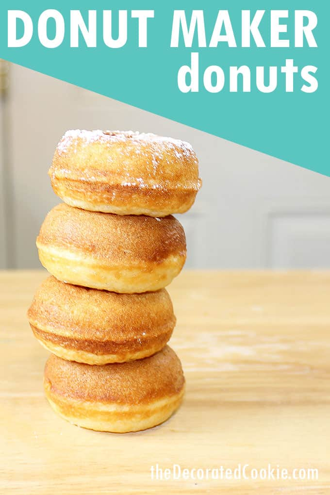 stacked donut maker donuts