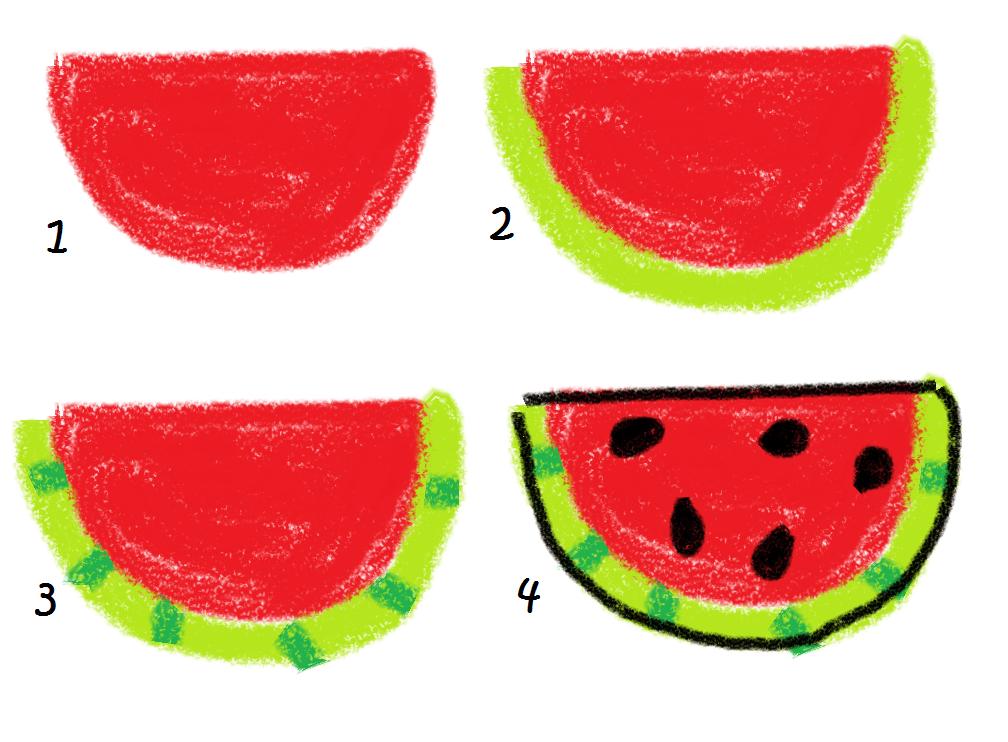 Bbq marshmallows food art how to draw watermelon
