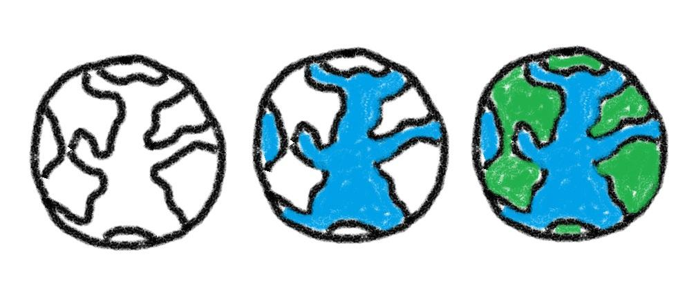 How to draw earth