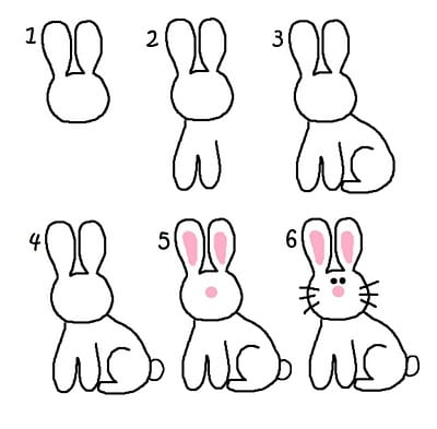 easter marshmallows how to draw a bunny