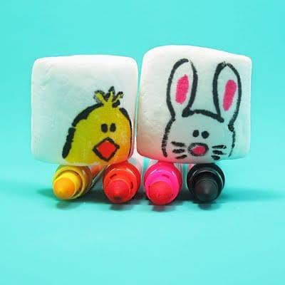 marshmallows met tekeningen