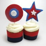 4th of July or election day cupcake toppers