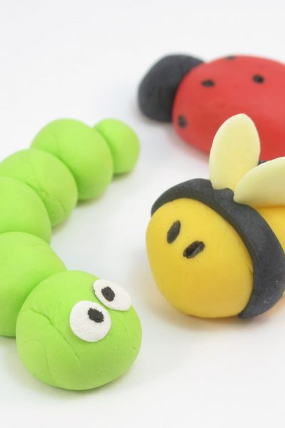 fondant bugs for party toppers