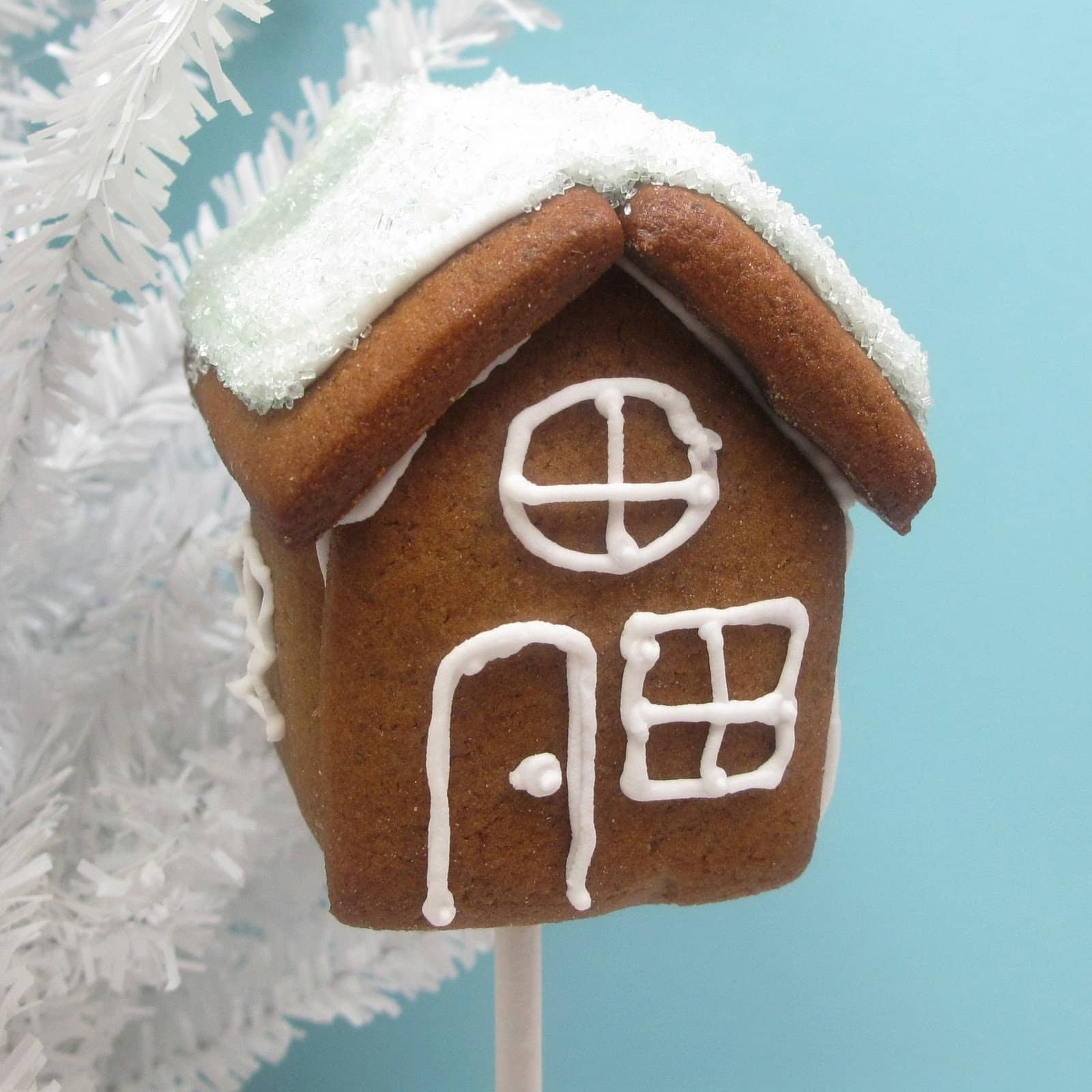 gingerbread house on a stick