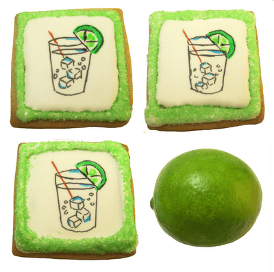 gin and tonic cookies