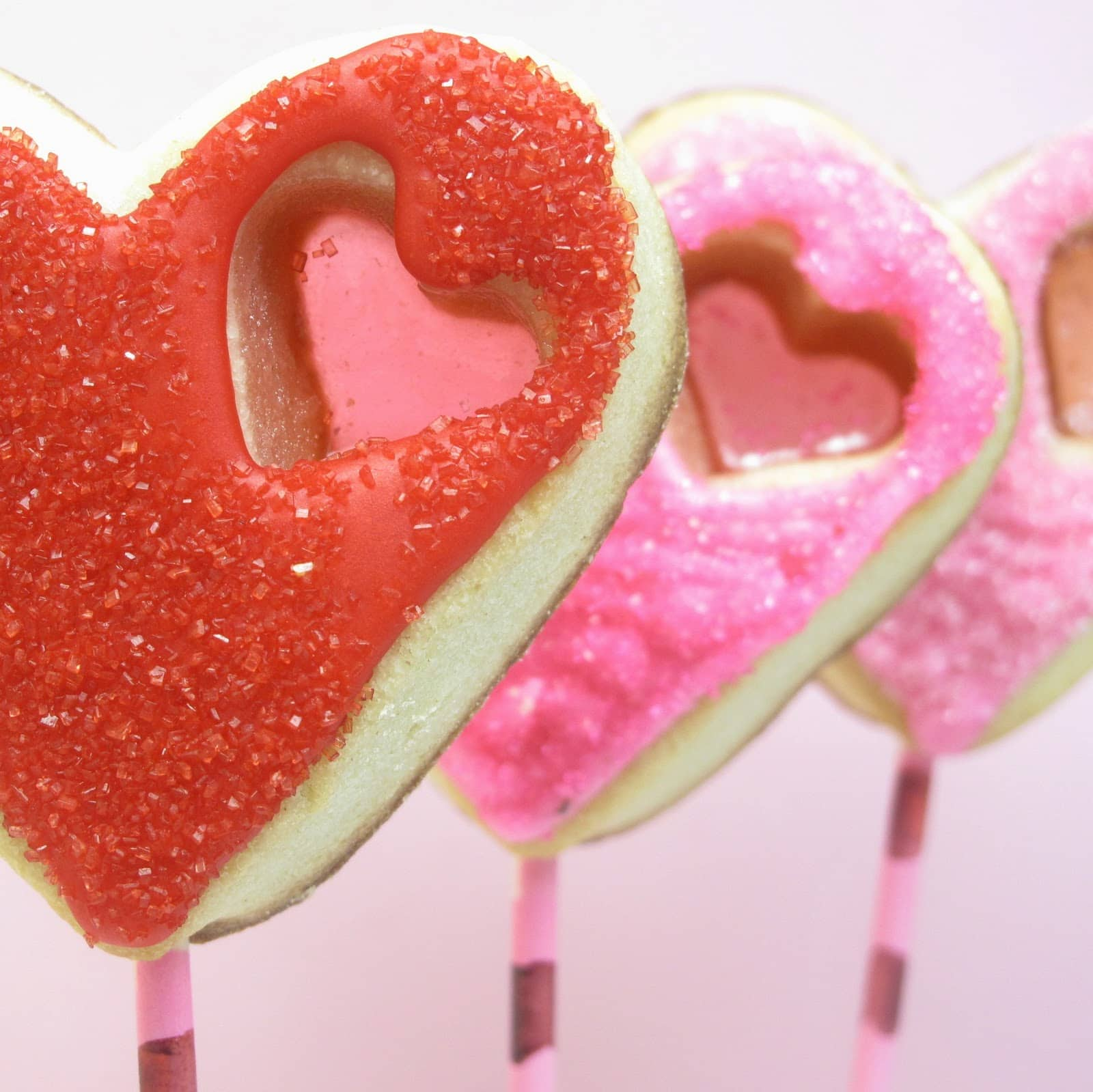 Stained Glass Heart Cookie Pops For Valentine S Day