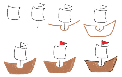 Thanksgiving marshmallows - how to draw the Mayflower