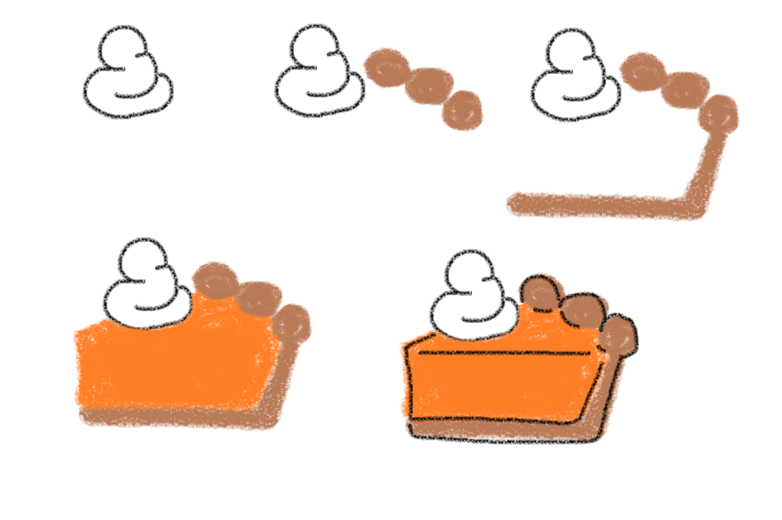How To Draw Thanksgiving Food