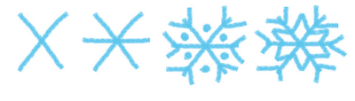 hot cocoa marshmallow stirrers - how to draw a snowflake