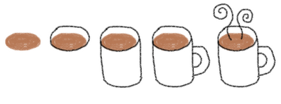 hot cocoa marshmallow stirrers - how to draw hot cocoa