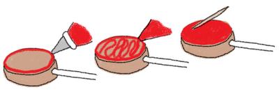 Santa's belly cookie pops