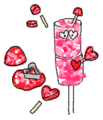 marshmallow love bugs - candy pops for Valentine's Day