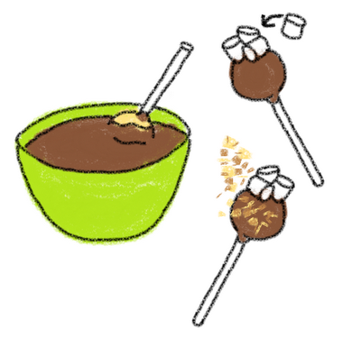 s'mores cake pops