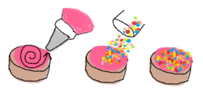 simple sprinkle birthday cookies