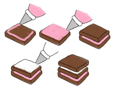 neopolitan chocolate sandwich cookies