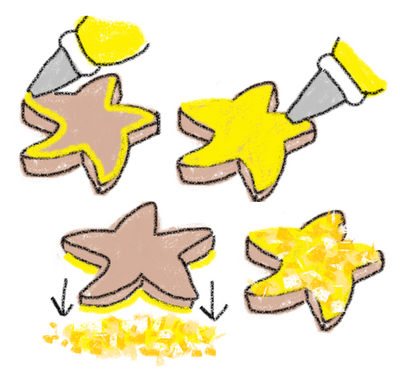 easy starfish cookies for summer dessert