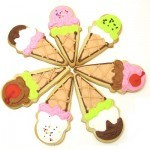 ice cream cone cookies - the decorated cookie