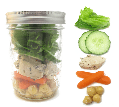 mason jar meal - mason jar chicken salad