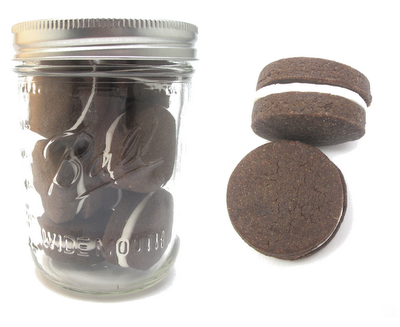 mason jar meal - mason jar chocolate sandwich cookies
