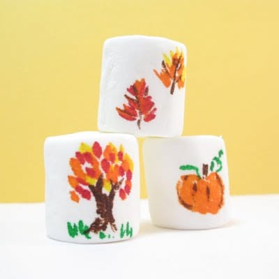 Fall marshmallow art - the decorated cookie