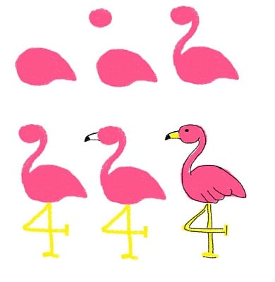 palm tree and flamingo cookies how to draw a flamingo