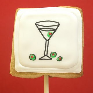 dinner cookies on a stick - how to draw dinner - martini cookies