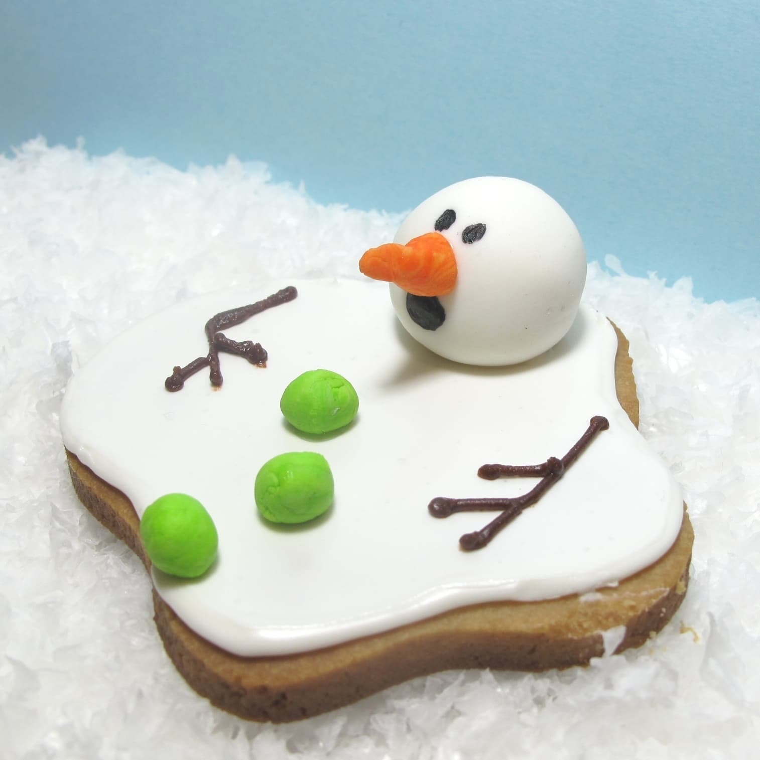 Melting Snowman Christmas Cake