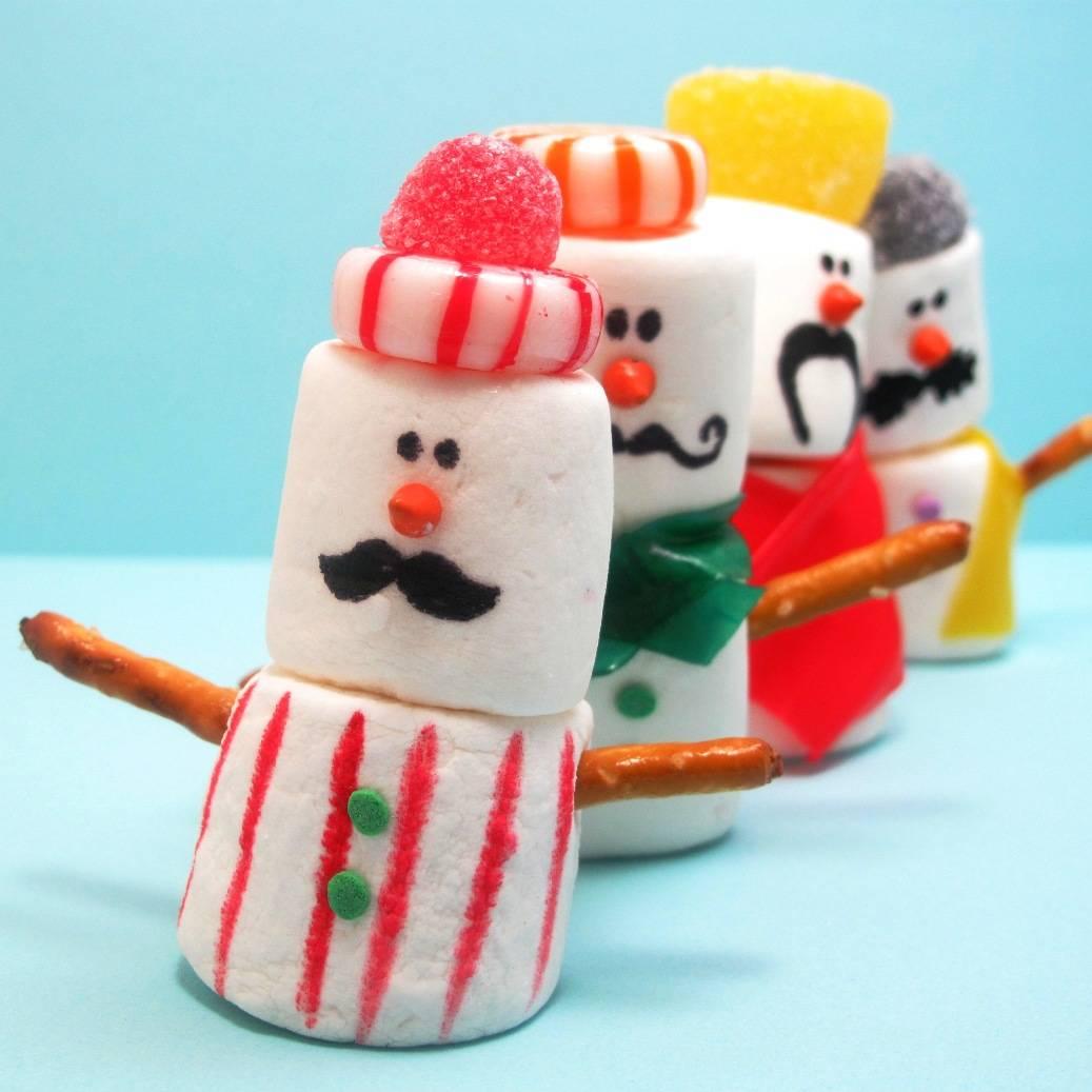 Mustache Marshmallow Snowmen The Decorated Cookie