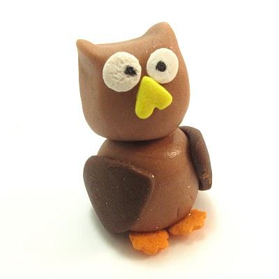 fondant owl and tree branch cookies
