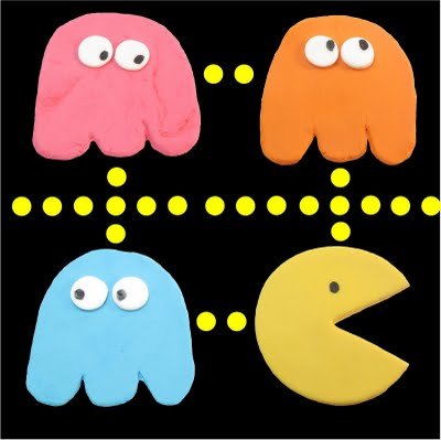 fondant pac man and ghosts