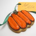 pumpkin cookies placecards
