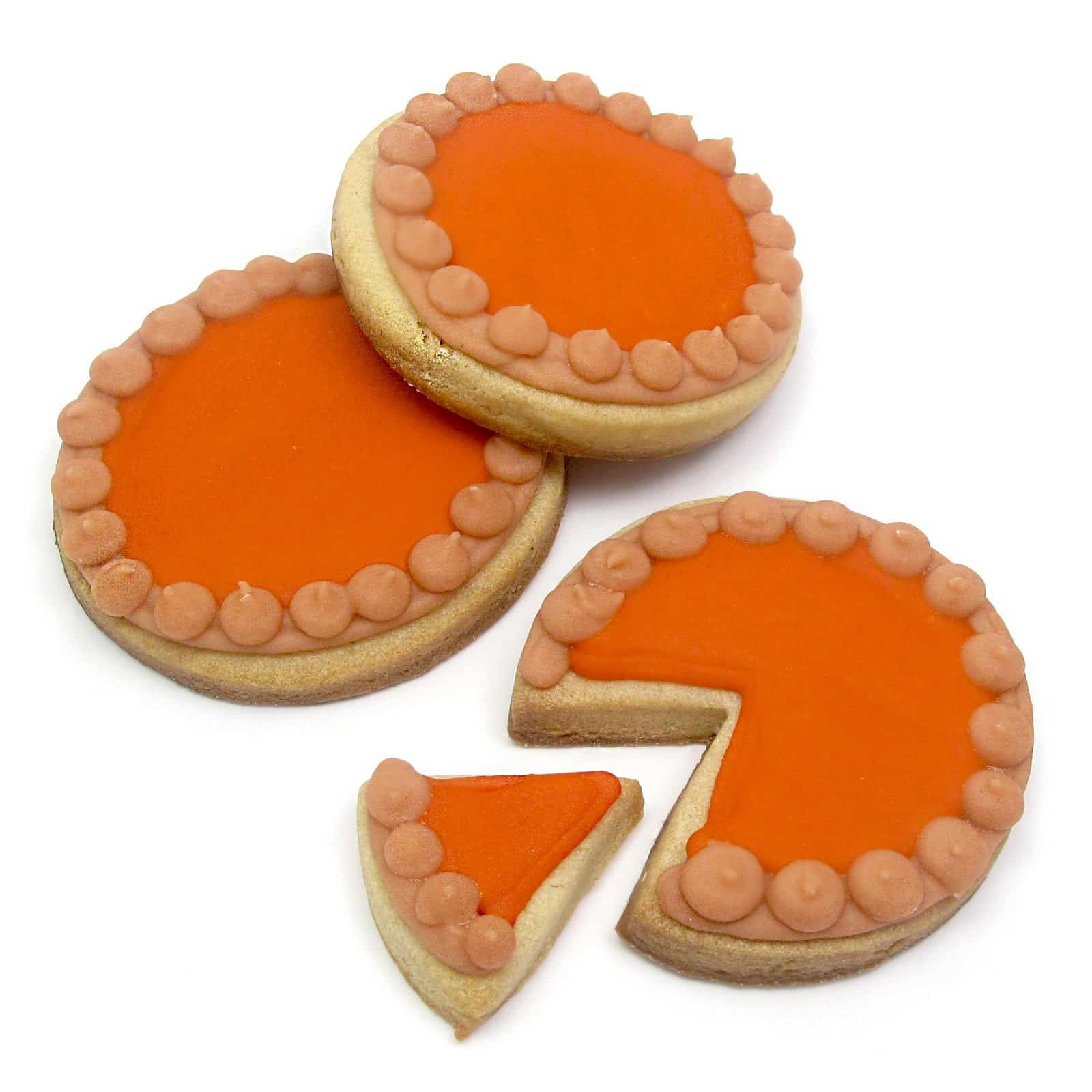 Thanksgiving Cookie Decorating Ideas: Pumpkin Pie Cookies