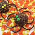 spooky raisin treat spiders