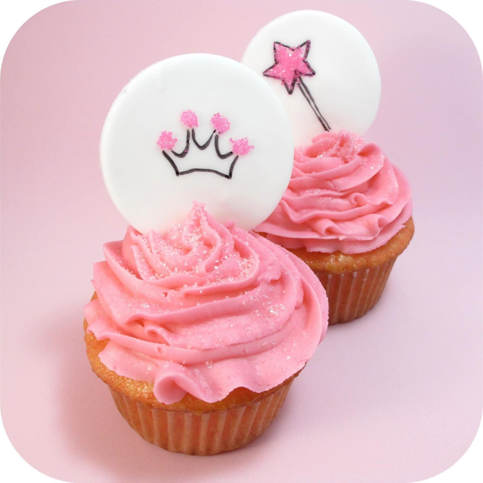 Princess Cupcake Images : princess cupcake toppers - the decorated cookie