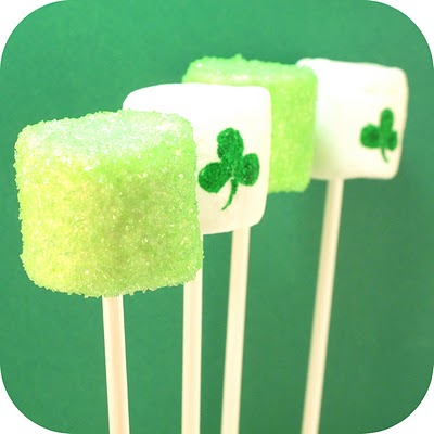 St. Patrick's Day marshmallow pops by the decorated cookie